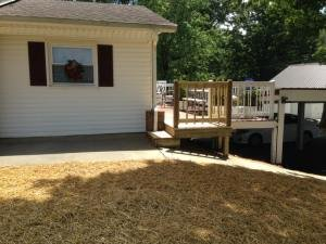 a ranch house after waterprrofing and drainage repairs by Parks' Waterproofing