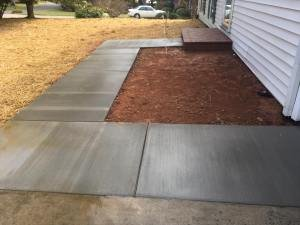 backyard concrete walkway by Parks' Masonry