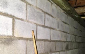 basement foundation wall after repair by Parks' Masonry LLC